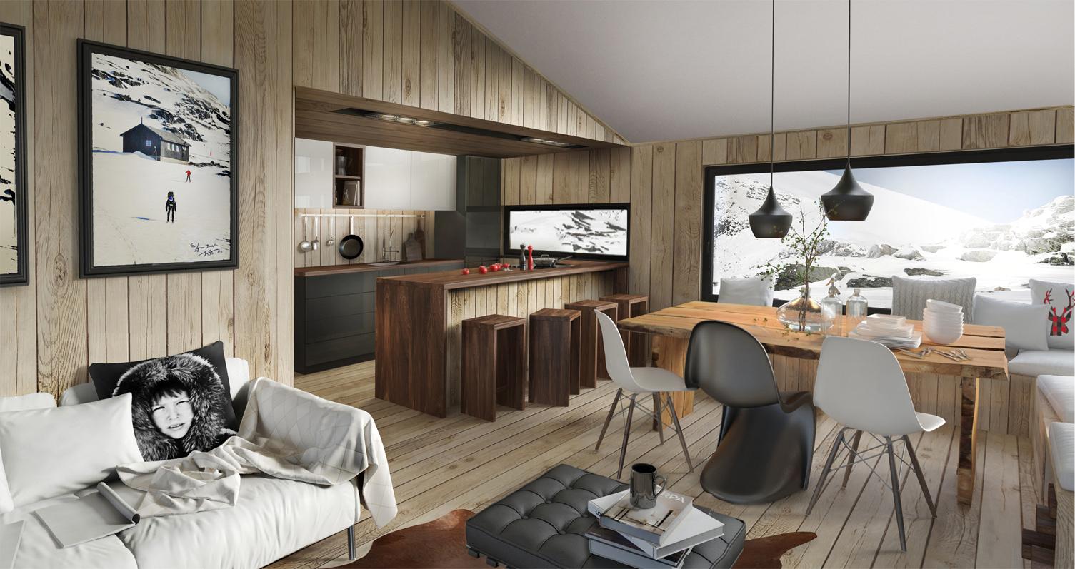 Cosy scandinavian cabin